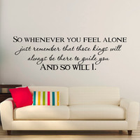 Wall Decals Quotes Lion King So Whenever You Feel Alone Mufasa Quote Vinyl Lettering Kids Room Nursery Children Wall Art Home Decor Q262