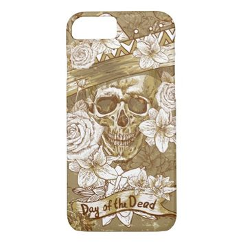 Flower Sugar Skull Case-Mate Barely There iPhone 7 Case