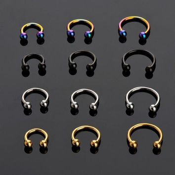ac DCCKO2Q LNRRABC Sale 2 Pcs Stainless Steel Nostril Nose Ring Lip Rings Earrings Sircular Piercing Ball Horseshoe Hoop Ring Body Jewelry