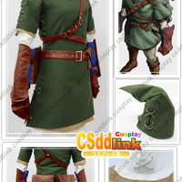 The Legend of Zelda Zelda Link Cosplay Costume