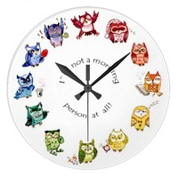 Rainbow owls - I`m not a morning person at all! Clocks