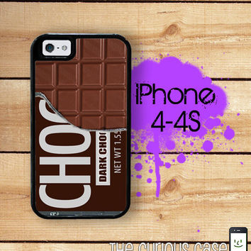 iPhone 4 4S Mighty Case - 2 Part Protective iPhone 4 Case  iPhone 4S Case - Chocolate Candy Bar Dark chocolate