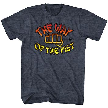 The Karate Kid T-Shirt Way Of The First Vintage Blue Heather Tee
