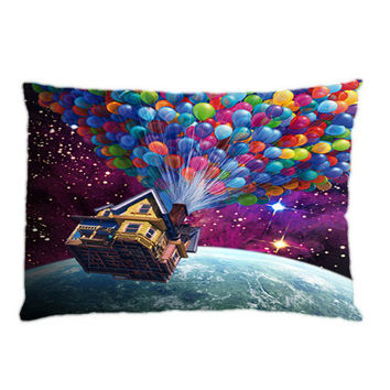 Flying House Up Balloon,Custom Pillow Case Cover Design. Choose for size