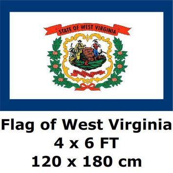 West Virginia Flag 4X6FT 100D Polyester State of US USA American United States Flags and Banners For Home Decoration