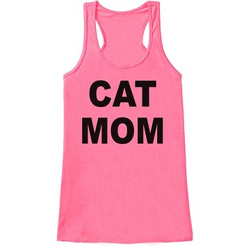 Gift For Mom - Cat Mom - Funny Shirts for Women - Novelty Tank - Gift for Her - Mothers Day Gift Idea - Funny Animal Lover Gift - Pink Tank