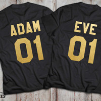 Valentine's day gift, His and hers shirts, His and hers, Couples shirts, Love shirts, Couple t-shirts, Adam and Eve, Adam, Eve, UNISEX