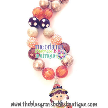 Halloween Trick or treat girl necklace