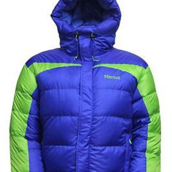 Marmot Mens Jacket Greenland Baffeled Azure-Green Envy