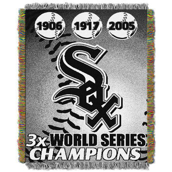 Chicago White Sox MLB World Series Commemorative Woven Tapestry Throw (48x60)