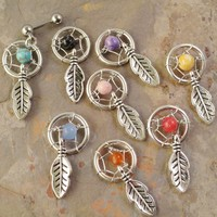 Tragus Cartliage Ear Piercing Dream Catcher Charm