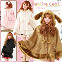 Rakuten: Heart Pocket & Ribbon rabbit poncho coat- Shopping Japanese products from Japan
