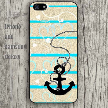 Anchor design Chevron design iphone 6 case 6 plus iPhone 5 5S 5C case Samsung S3, S4,S5 case, Ipod touch Silicone Rubber Case,Phone cover A0176