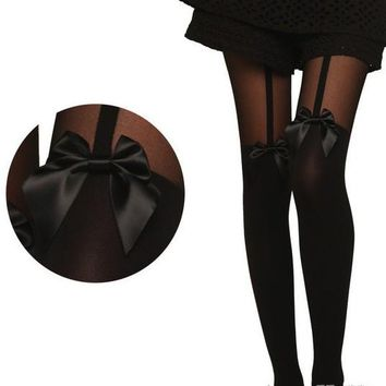Knee-length Stockings Sexy Spaghetti Strap Butterfly Pantyhose [11723914895]