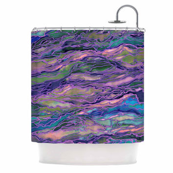 "Ebi Emporium ""Marble Idea! - Lavender Pink"" Purple Geological Shower Curtain"
