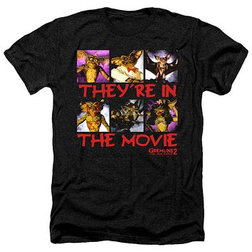 Gremlins 2 Heather T-Shirt They're in the Movie Black Tee