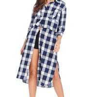 Perfect In Plaid Length Adjust Shirt Dress