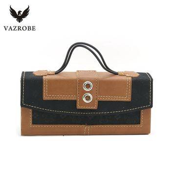Vazrobe Brand Portable Glasses Box Handmade Sunglasses Hard Case Magnetic Switch Eyeglasses Leather Boxes Ultra-light Creative