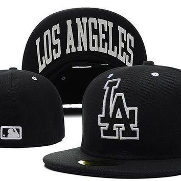 Los Angeles Dodgers New Era Mlb Authentic Collection 59fifty Cap Black La
