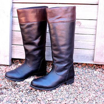 Ariat riding boots / size US 7 / EU 37 / Brazilian leather equestrian boots / black / brown tall riding boots