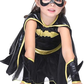 Children Anime Girls Dance Performance Batman Cape Play Halloween Costumes Cosplay Witch Deadpool Costume For Kids