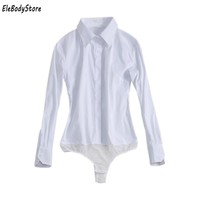 Body Shirt Blouse 2017 Blusas Women Shirts Blouses Blusa Casual Tops Long Sleeve Bodysuit White Black Office For Work Clothes