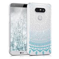 kwmobile Elegant and light weight Crystal Case Design Indian sun for LG G5 / G5 SE in blue white transparent
