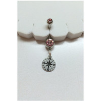 Compass Belly Button Ring - Body Jewelry/Bellybutton Jewelry/Belly Navel Ring Piercing