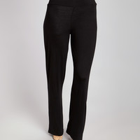 Black Straight-Leg Pants - Plus