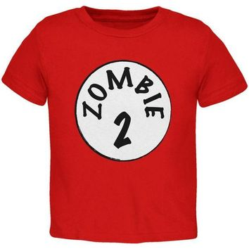 PEAPGQ9 Halloween Zombie 2 Two Costume Red Toddler T-Shirt