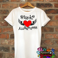 Stroke Awareness Tattoo Wing Shirts