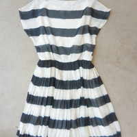 Painted Sideways Dress in Charcoal