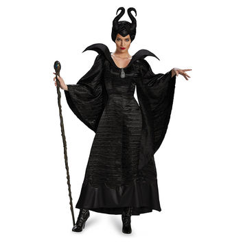 New arrival!!high-quality Sleeping curse costumes,Adlut Maleficent Cosplay halloween Costumes,female witch cosplay