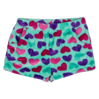 Candy Pink Super Soft Fleece Shorts Hearts