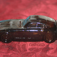 Vintage Brown Jaguar Car Bottle, Vintage Decanter Bottle
