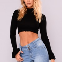 Khloe Crop Top - Black