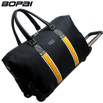 Hot BOPAI Waterproof Trolley Bags for Women and Men Travelling Bag Rolling Luggage Big Capacity Fashionable Duffle Bags