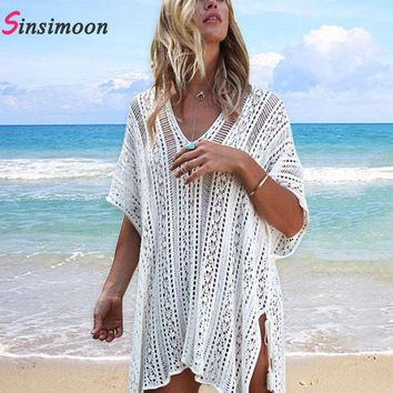 New Arrivals Beach Cover up Black Swimsuit Tunic Crochet Robe de Plage Pareos for Women Swim Wear Knitted Beachwear Coverups