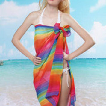 Rhodes Rainbow Beach Sarong Dress