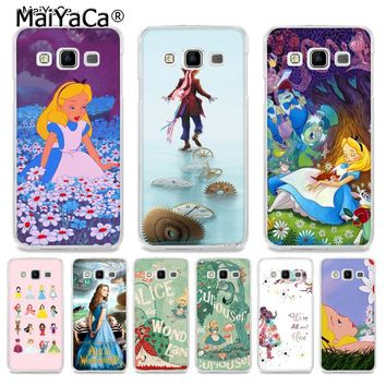 MaiYaCa Alice In Wonderland Retro Movie Poster Popular Coque Phone case for Samsung A5 A3 A7 2016 A8 A9 2015 Note 3 Note 4