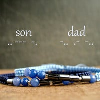 DAD morse code bracelet, I love you daddy, hidden message, fathers day gift, jewelry for men, memorial, cremation