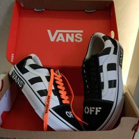 VANS & OFF-WHITE Co-brand Fashion Trendy Sports Casual Canvas Shoes F-CSXY