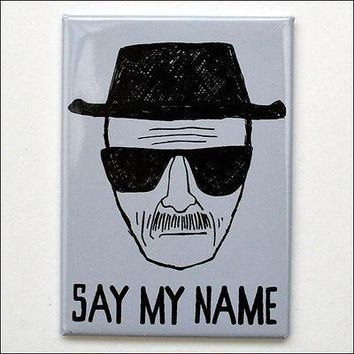 Breaking Bad Heisenberg Hat Say My Name Gray Heavy-Duty Fridge Magnet LICENSED