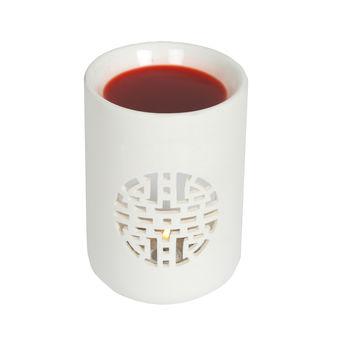 Village Candle Oriental Small Cylinder Ceramic Melt Warmer