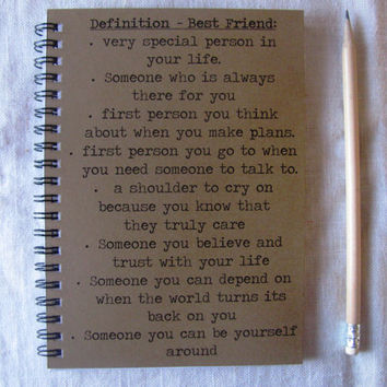 Definition Best Friend - 5 x 7 journal