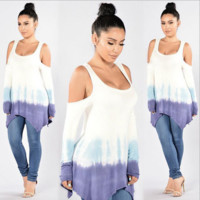 Cold Shoulder Tie Dye T Shirt B0014538