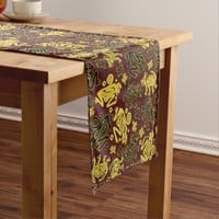 African Wild Animal Graphic Pattern Short Table Runner