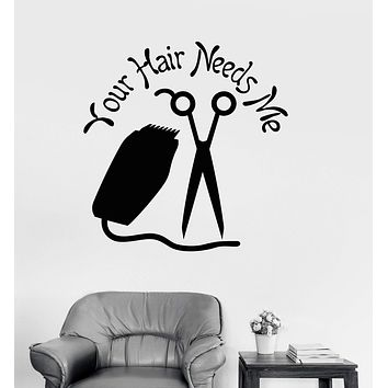Vinyl Wall Decal Hairdresser Quote Hair Salon Stylist Stickers Unique Gift (ig3986)