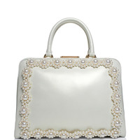 Daisy Pearl Embellished Leather Case by Simone Rocha - Moda Operandi