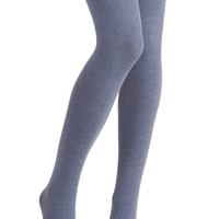 Truly Trustworthy Tights in Denim Blue | Mod Retro Vintage Tights | ModCloth.com
